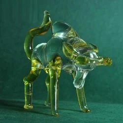 Glass Artifacts - Wall Street Bull - Clear Glass Bull