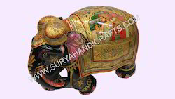 Wooden Gold Painting Elephant