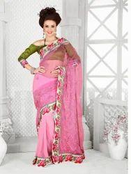 Net Designer Work Beauty Sarees