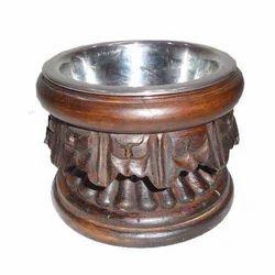 Engrave Single Wooden Cat Bowl