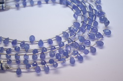 Natural Tanzanite Faceted Tear Drops
