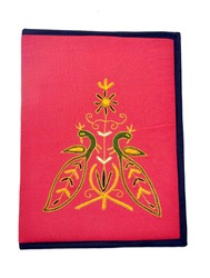 Embroidered File Folder