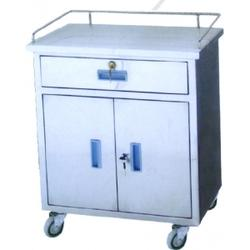 stainless steel anaesthetic trolley