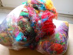 Sari Silk Waste In Multicolors For Spinners, Weavers