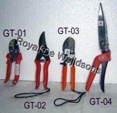 4 orange handle garden tools