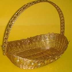 Golden Metal Basket (  BK - RFH - 18 )