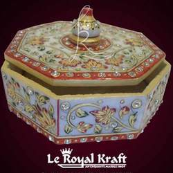 marble meenakari dry fruits box