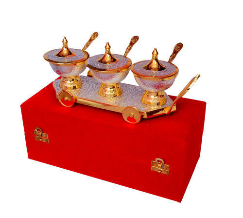 Silver And Gold Plated Brass Gifts Promotional Gift Items