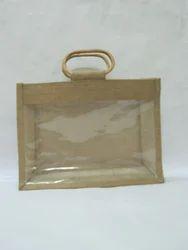 Jute Bags With Cyan Handle