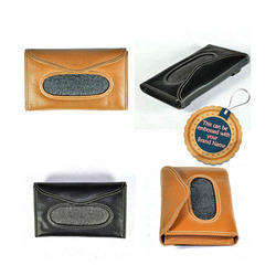 Genuine Leather Tissue Holder - Car Sun Visor Tissue Holder