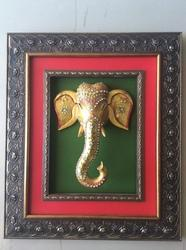 Frame with Lord Ganesha Statue