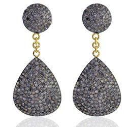 14k Gold Diamond Dangle Earrings Jewelry