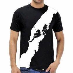 Mens Casual Black T- Shirts