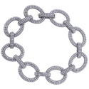 Pave Diamond Link Chain Bracelet