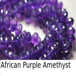 Dark African Purple Amethyst Faceted Rondelles