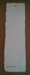 Deckle Edged Cotton Rag Handmade Paper Tags With Logo Print