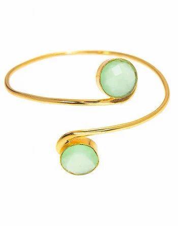 Green Chalcedony Gemstone Bangle