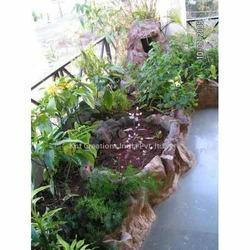 Rock Planter & Lotus Pond