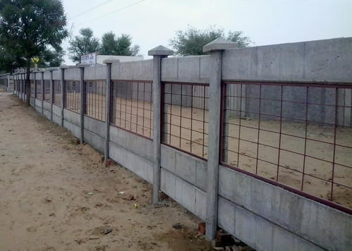 Retaining Wall Rcc : Compound boundary wall concrete rcc folding ready made
