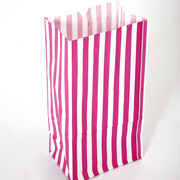 Striped Paper Bags For Candies, Cakes, Pastries