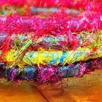 Sari Silk Ribbon Fabric