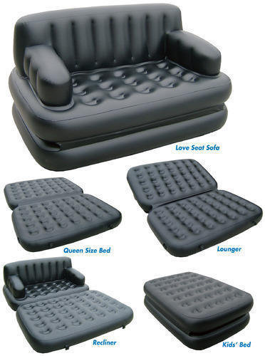 5 In 1 Air Sofa Bed Leather Look