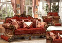 Beautiful Wooden Sofa Set