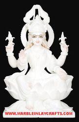 White Marble Laxmi Mata Murti