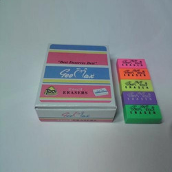 multi colour pencil eraser