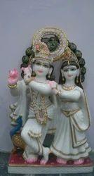 Marble Radha Krishna Pair