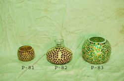 Mosaic Glass T-Lite Candle Burners & Diffuser Bottles
