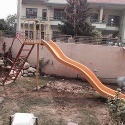 Fiber Wave Slide With Ladder