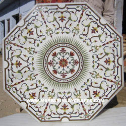 Octagonal Inlay Marble Table Top