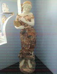 European Marble Lady Sculpture