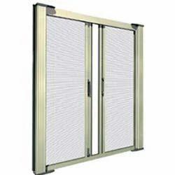Aluminium Mosquito Net Horizontal Sliding Double Door