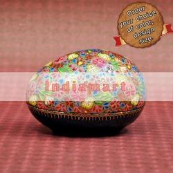 Multi Color Floral Pattern - Paper Mache Egg Box