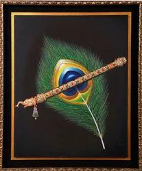 Krishna Feather Miniature Painting