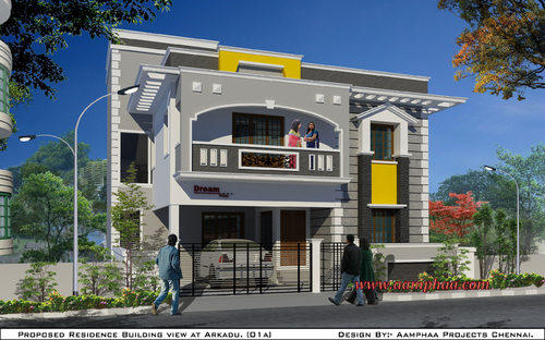 Nadu Building Plan Elevation Front View : Home front view in arumbakkam chennai id