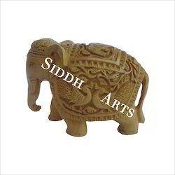 Fine Engraved Wooden Elephant