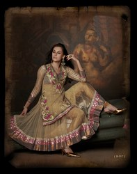 Beige Brown Readymade Suit Collection Wear