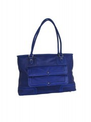 Blue Leather Women Handbags