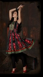 Indian Black Readymade Suit Designer Work