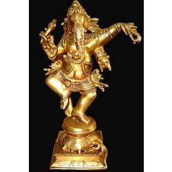 Ganesh Dancing On Sq. Base