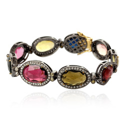 Multi Tourmaline Gemstone Bracelet