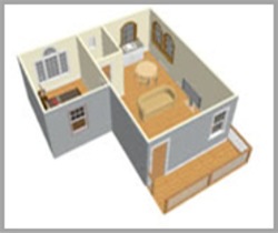 Low Cost Housing Interiors Construction Service In