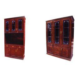 Wooden Glass Almirah