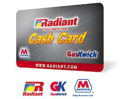 radiant cash card