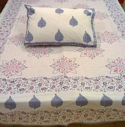 Cotton Bedsheet with Pillow Covers