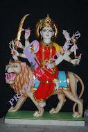 Traditional White Decorative Maa Durga