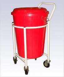 Solid Lenin Trolley with Plastic Basket